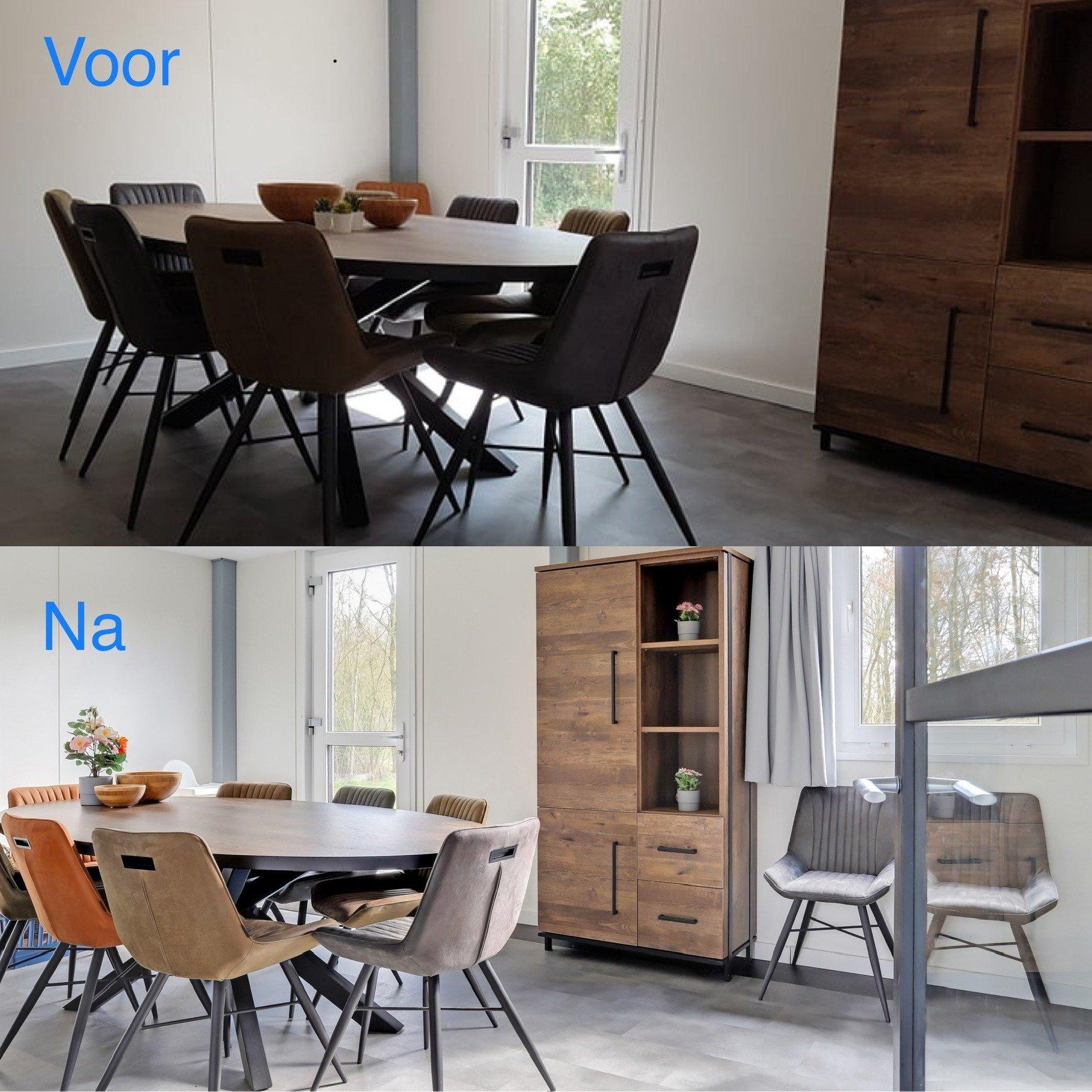 voor en na foto interieur